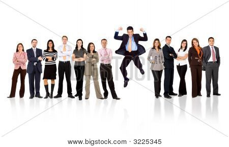 Business Team - Man Standing Out