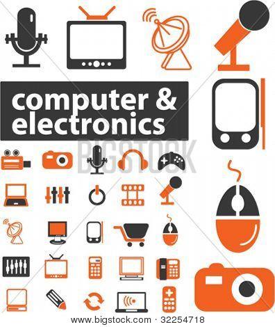 25 señales de ordenador & electrónica. Vector