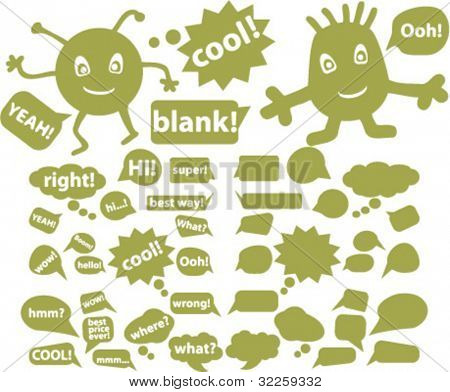 chat signs. vector