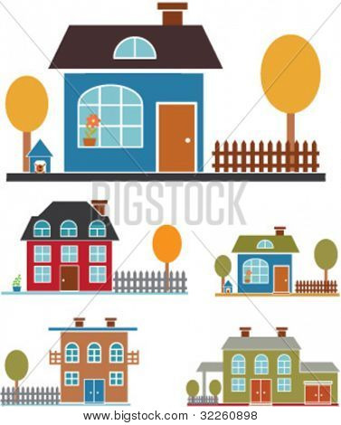 family houses. vector