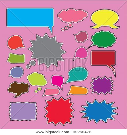 color chat icons, signs, vector