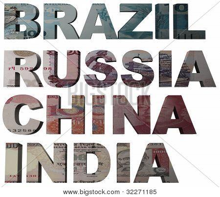Bric Acronym For Brazil, Russia, India, China