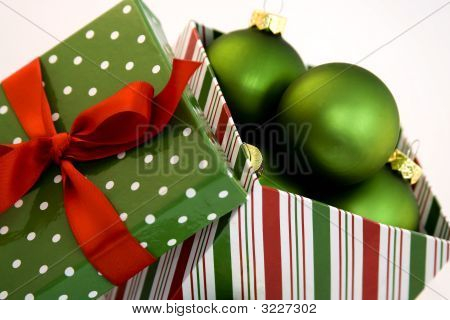 Christmas Gift Box With Ornaments