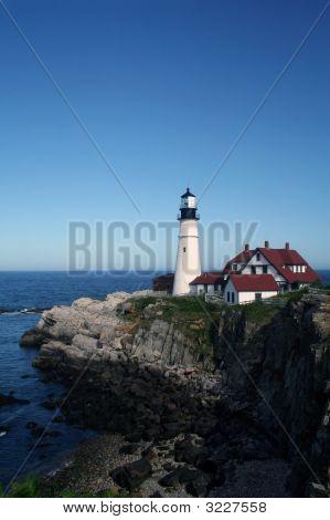 Portland Lighthouse Vertical