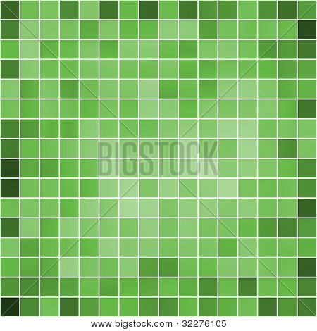 Green mosaic background