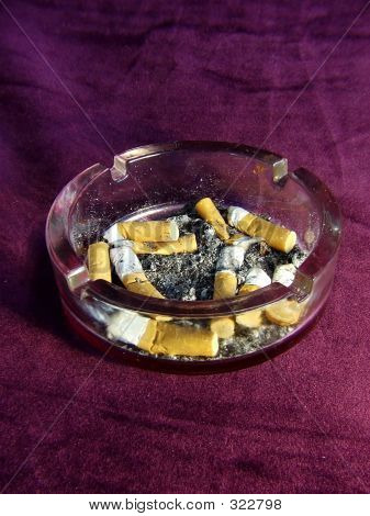 Ashtray With Butts