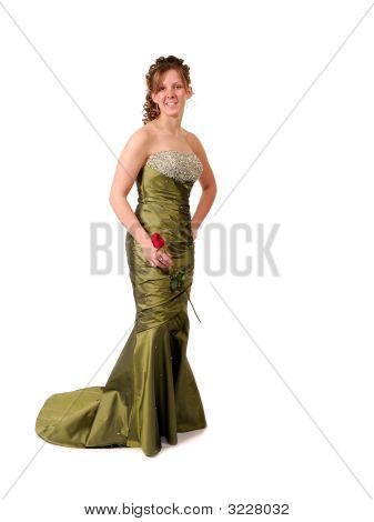 Pretty Graduate In Her Prom Dress