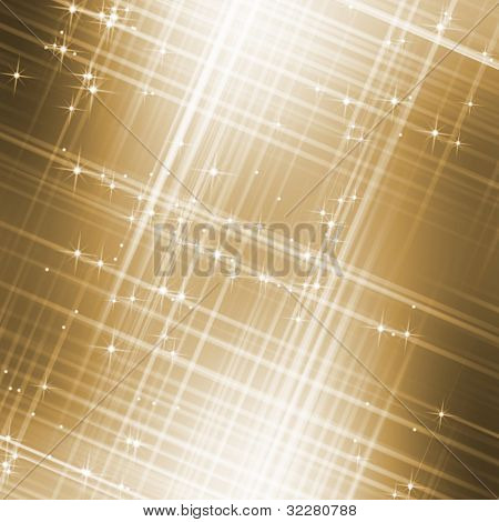 Abstract golden starry sky