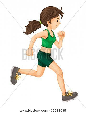 Illustration of a fit woman - EPS VECTOR format also available in my portfolio.