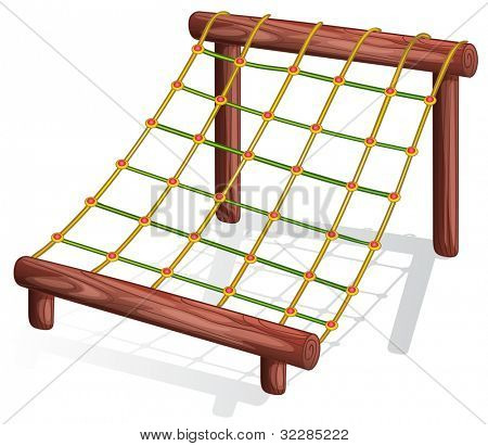 Illustration of a rope course - EPS VECTOR format also available in my portfolio.