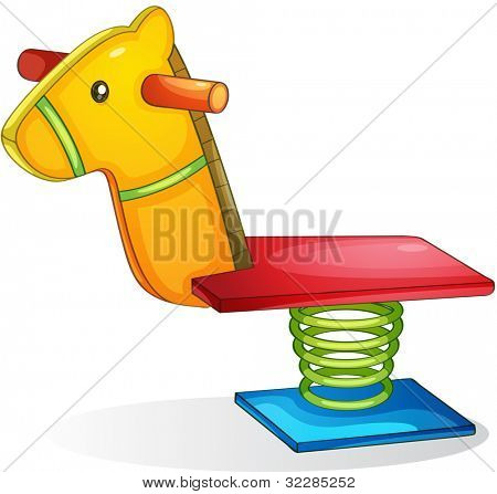 Illustration of springy horse - EPS VECTOR format also available in my portfolio.