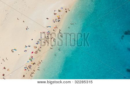 Top view of beautiful dreamy beach