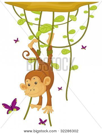 illustration of a monkey on a white background - EPS VECTOR format also available in my portfolio.