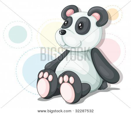 Panda teddy illustration on white - EPS VECTOR format also available in my portfolio.