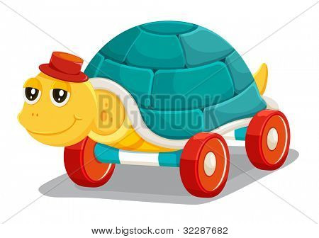 illustration of toy tortoise on a white background - EPS VECTOR format also available in my portfolio.
