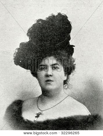 Russian Imperial Opera Singer F. Litvin.  Published in magazine