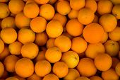 Orfganic Oranges At The Market  Closeup Background. Orange, Citrus, Many, Vitamin, Juicy, Market, Sk poster