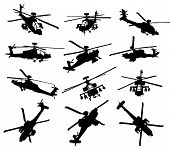 stock photo of military helicopter  - AH - JPG