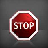 foto of octagon  - Stop sign - JPG