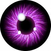 Purple Eyes Illustration Contact Lens. Isolated On Transparent Background . Eyes Art. Woman Eye. The poster