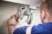 plumber service. sink trap siphon installation poster