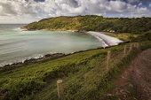 The Wales Coastal Path At Pwll Du Bay On The Gower Peninsula, Swansea, A Long-distance Footpath Whic poster