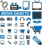 25 media objects. vector