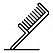 Hair Comb Icon. Outline Hair Comb Vector Icon For Web Design Isolated On White Background poster