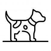 Puppy Dog Icon. Outline Puppy Dog Vector Icon For Web Design Isolated On White Background poster
