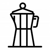 Steam Coffee Maker Icon. Outline Steam Coffee Maker Vector Icon For Web Design Isolated On White Bac poster