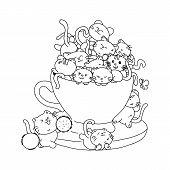 Sitting Cat Icon . Cat Vector. Simple App Cat. Sitting Cat Drawing. Sitting Cat Cartoon. Sitting Cat poster