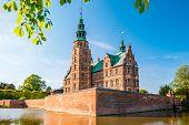 The Rosenborg Castle In Copenhagen, Denmark. Dutch Renaissance Style. poster