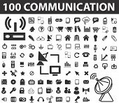100 communication signs. raster version