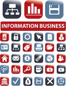 information business signs, icons, vector