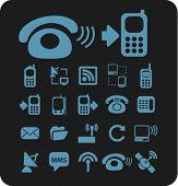 Постер, плакат: Телефон значки знаки векторные иллюстрации