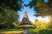 Wat Umong Suan Puthatham Is A Buddhist Temple In The Historic Centre And Is A Buddhist Temple Is A M poster