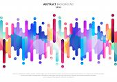 Abstract Fluid Or Liquid Colorful Rounded Lines Transition Elements On White Background With Space F poster