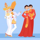 Local Weddings Set With Indonesian, Chinesse Bride, Groom Wearing Traditional Dress, Engaging In Loc poster