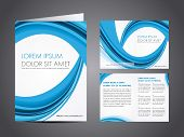 Professional business catalog template or corporate brochure design with inner pages for document, p