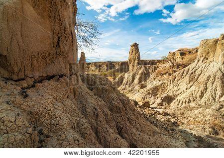 Stone Desert Pillars