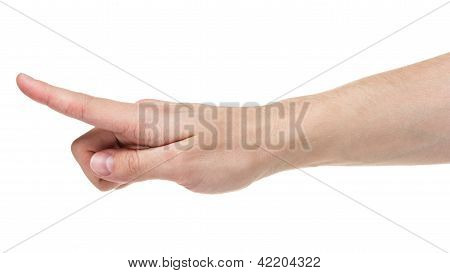 Adult Man Hand Touching Virtual Screen