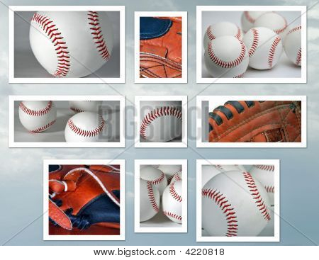 Baseball And Glove Collage
