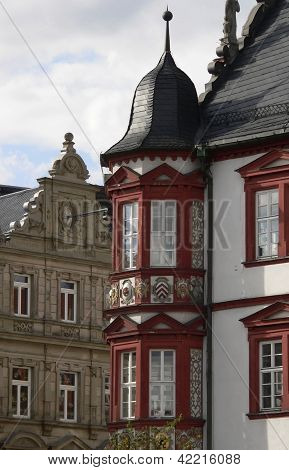 Detail Of The Stadthaus In Coburg