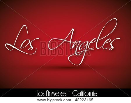 Los Angeles - fundo manuscrita