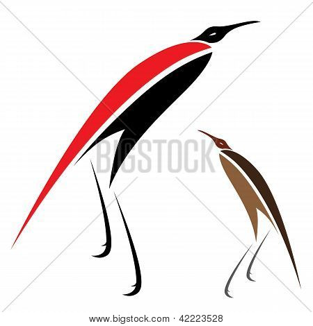 Vector image of an bird