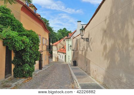 Prague. Narrow Street In The Old Town