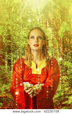 Young Beautiful Woman Fairy