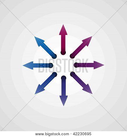 arrow circle concept