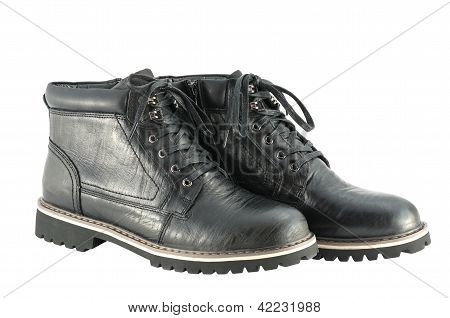 Male Winter Boots Isolated On White Background