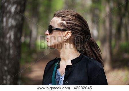 Pretty Girl With Dreadlocks